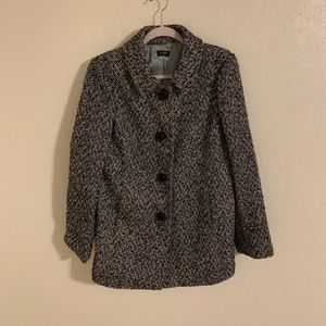 J.Crew Houndstooth Car Coat